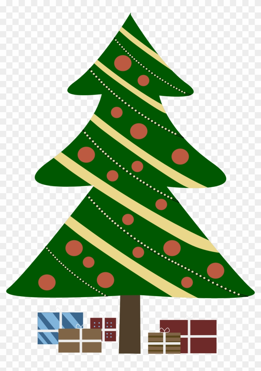 Where To Download Free Clip Art Of Christmas Trees - Christmas Tree Cartoon With Presents #229468