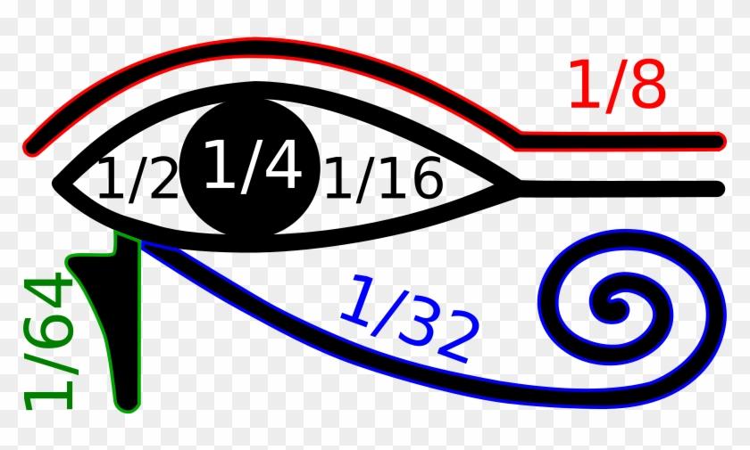File - Oudjat - Svg - Eye Of Horus Fractions #229725
