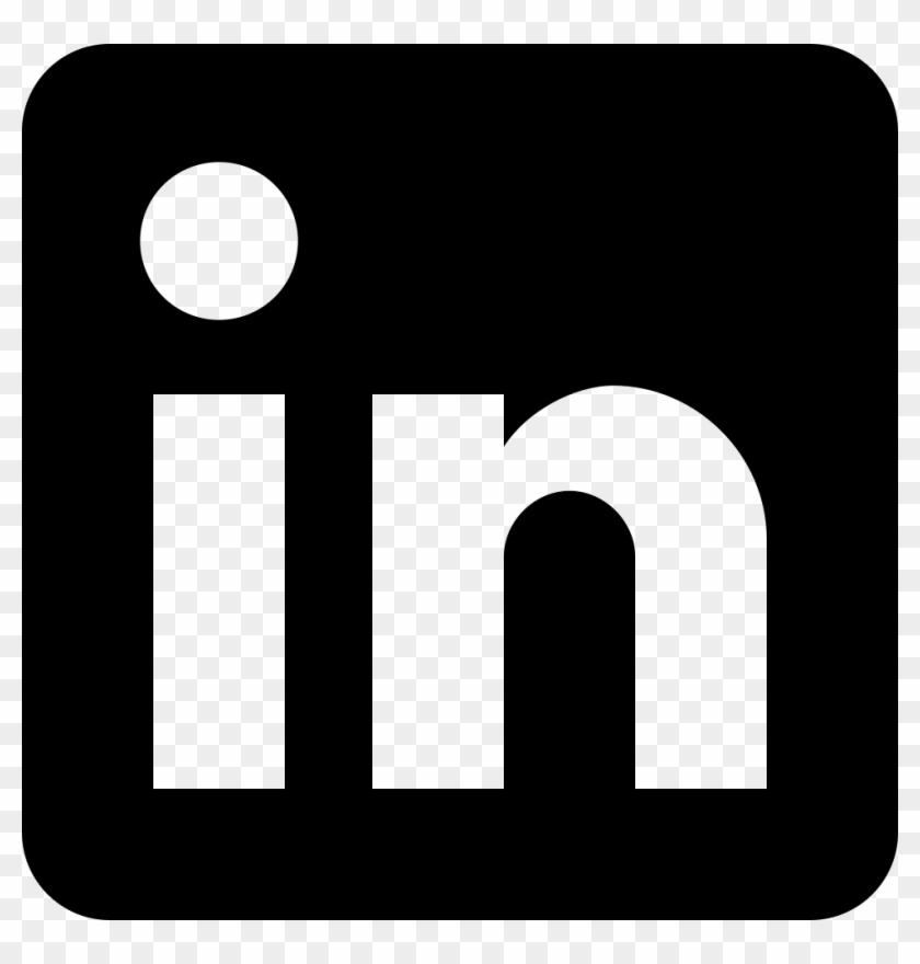 Png File - Linkedin Logo Png Black #230136