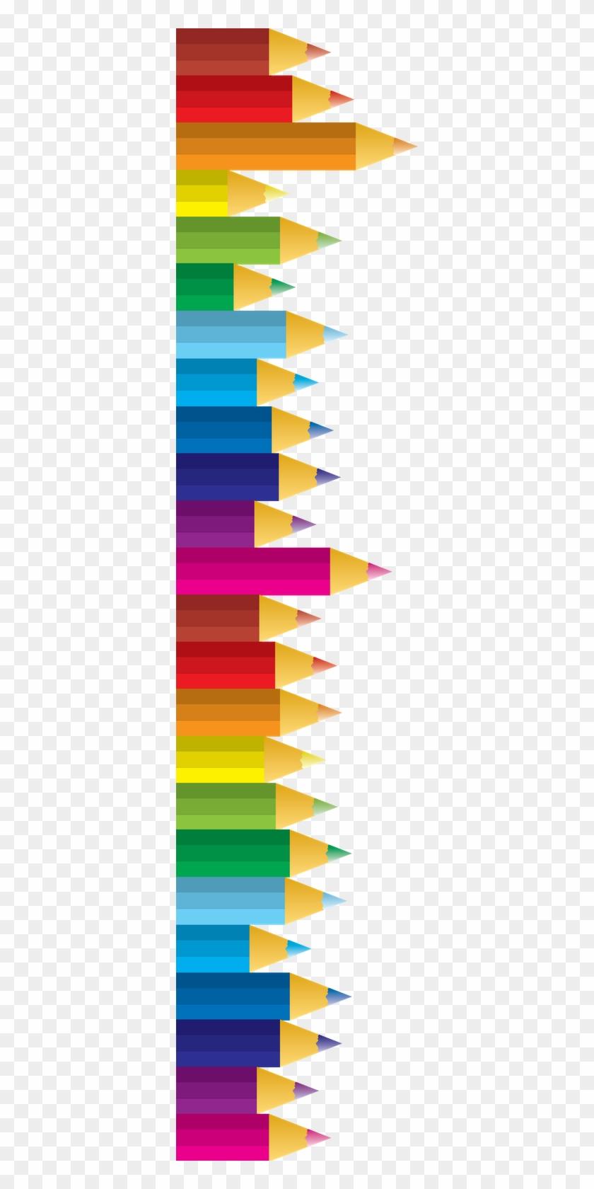 Free Pencil Clipart For Teachers - Color Pencil Border Clipart #230929