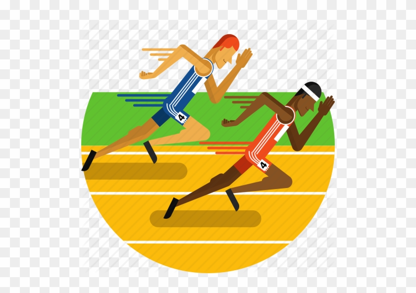 Vector Transparent Athlete Clipart Track Lane - Sports Track Icon #1457664