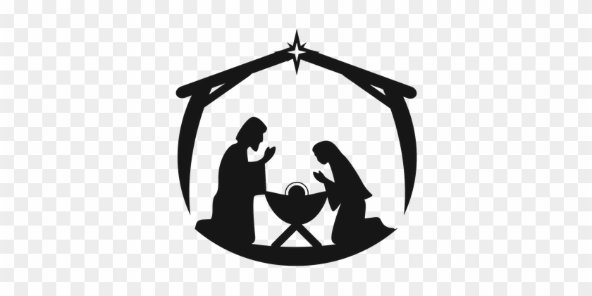 Christmas Manger Clipart   Christmas manger, Nativity scene, Christmas tree  silhouette