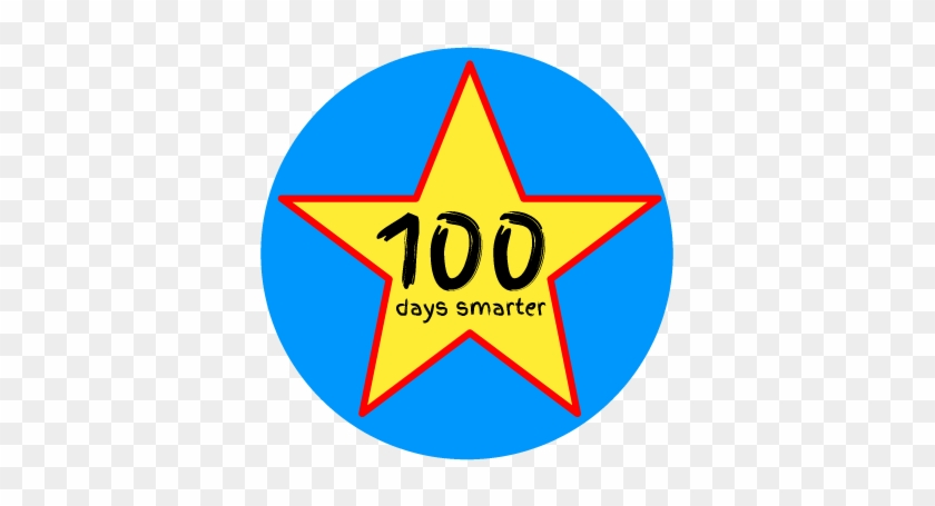 image relating to 100 Days Printable identify Clip Artwork 100 Times Smarter Absolutely free Printable Sticker For - Icon