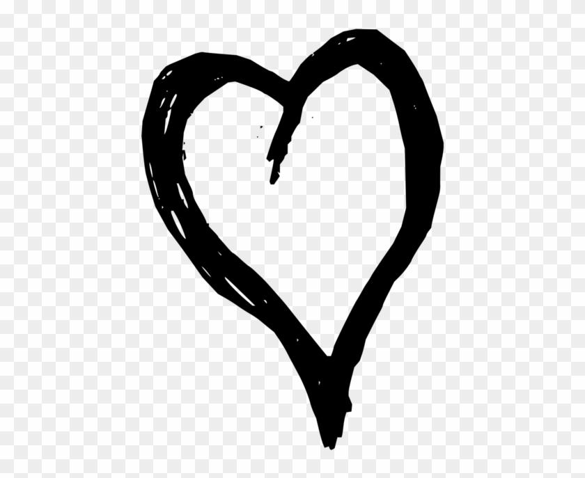 Heart Black And White Line Art - Love Heart Black Shower Curtain #1461820