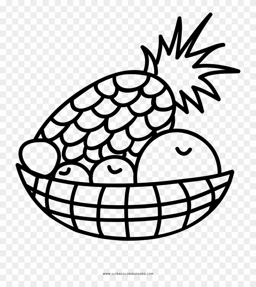 Fruit Basket Coloring Page Drawing Free Transparent PNG