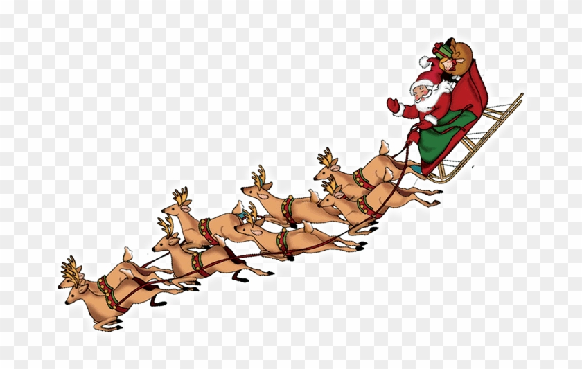 Clip Art Claus With Png Photo - Santa Sleigh Transparent Background #1462384
