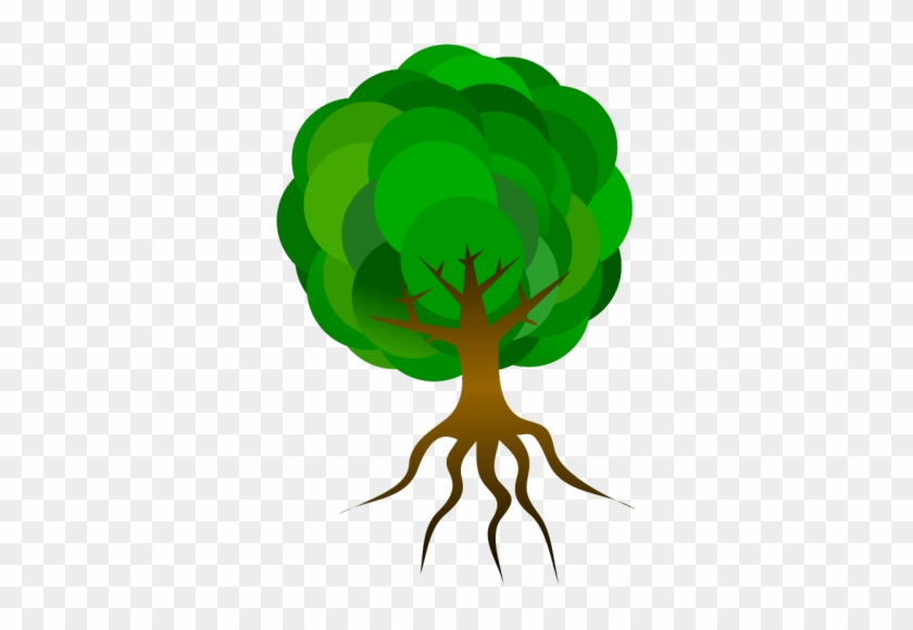 Simple Tree, Tree Branches, Roots, Clip Art, Skeleton, - Cartoon Tree With Roots #1464209