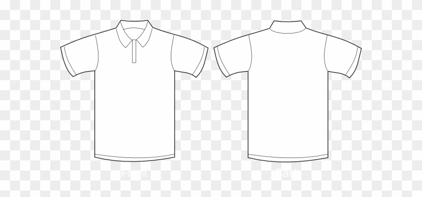 Polo Shirt Clip Art At Clker Com Vector Clip Art Online - Simple T Shirt Drawing #1465196