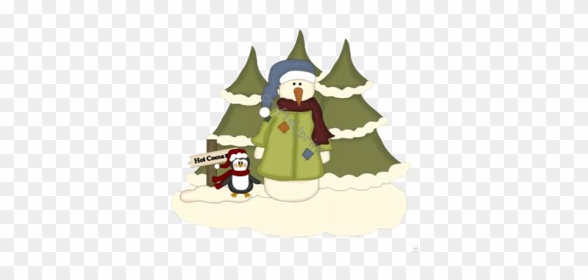 Christmas Scenes - Christmas Penguin