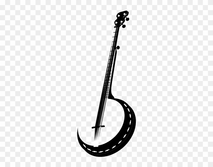 Banner Free Hillbilly Drawing Banjo - Banjo Silhouette Tattoo #1465735