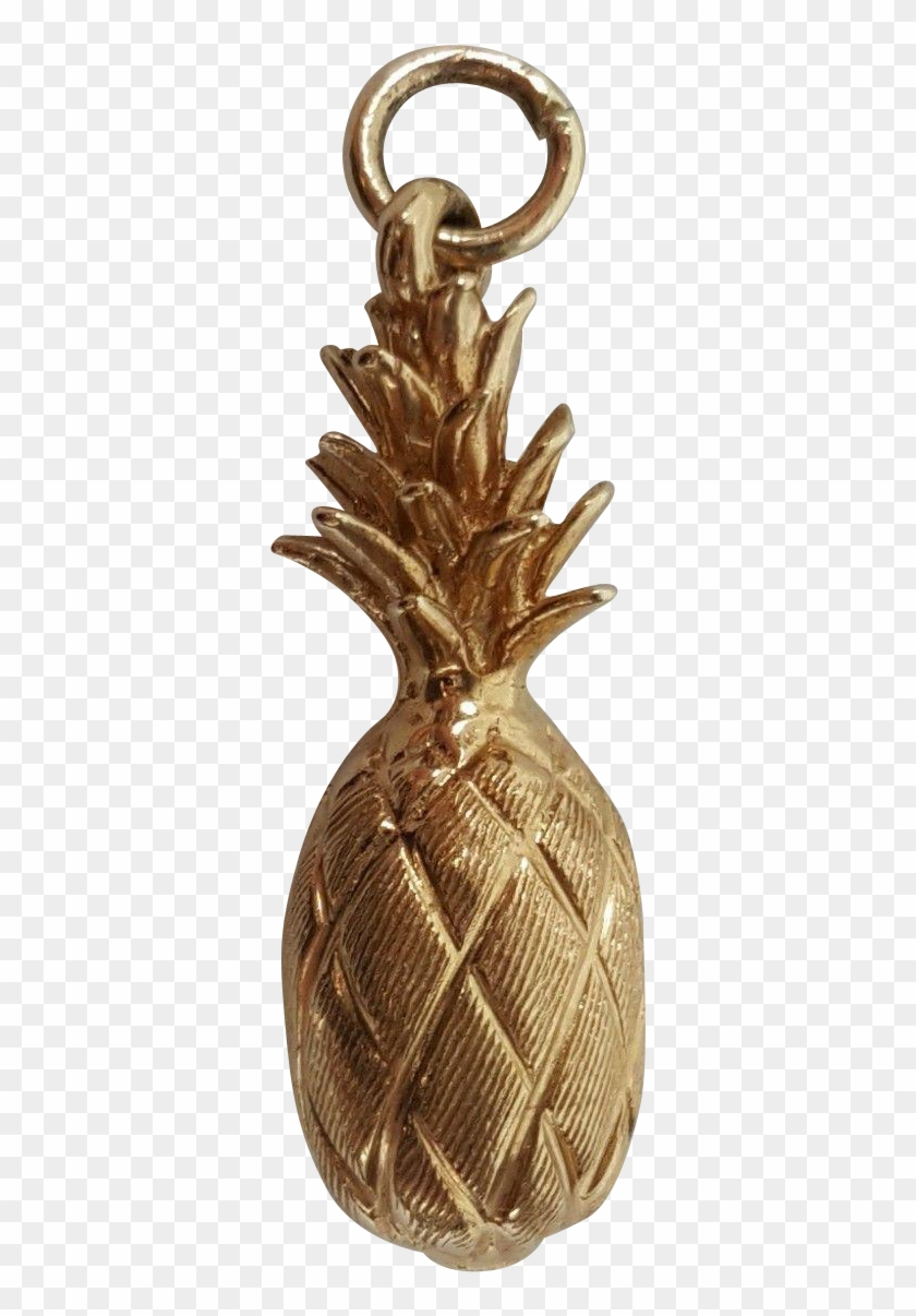 Clip Art Bronze Pineapple - Charm Bracelet #1466383