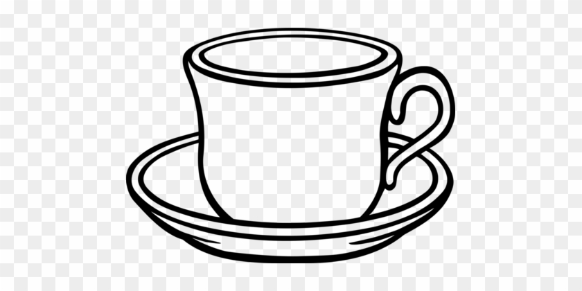Table-glass Coffee Saucer Teacup - Cup And Saucer Clipart #1466449