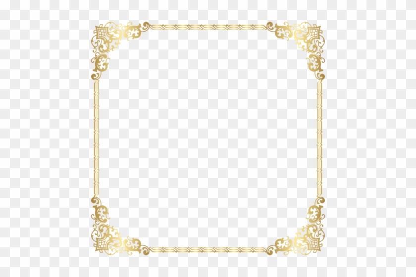 Download Gold Border Frame Transparent Clipart Png - Transparent Background Gold Border #1466685