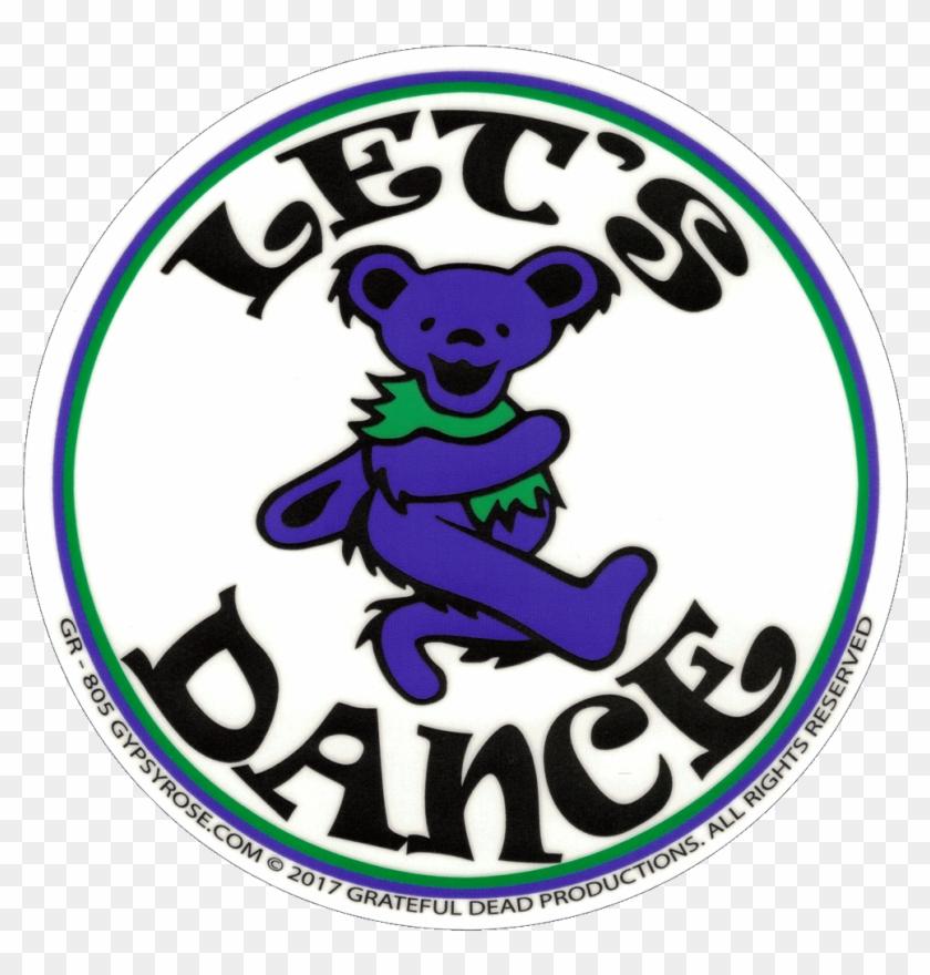 Grateful Dead Dancing Bear Let's Dance - Bear - Free Transparent PNG