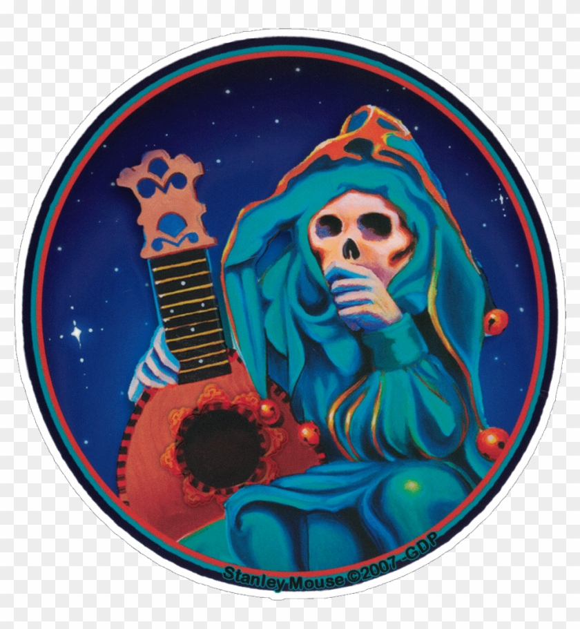 Grateful Dead Jester - Grateful Dead - Skeleton Jester - Sticker #1467630