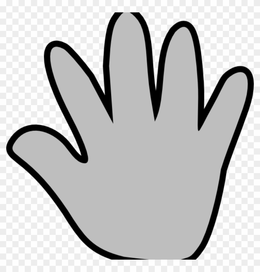 hand waving clipart - 820×800