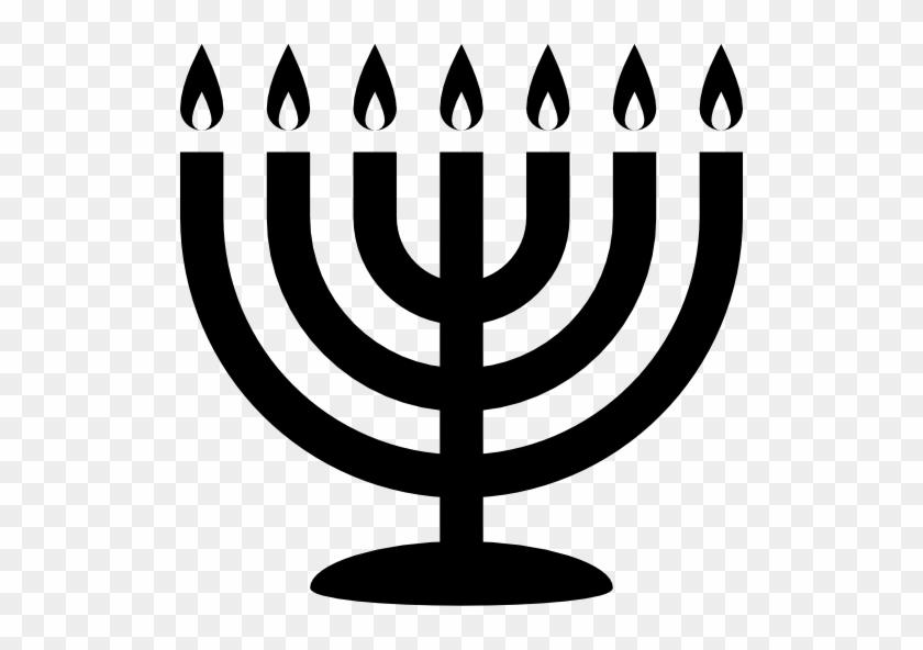 Star Of David Icon Torah Icon Menoraicon - Menorah Icon #1470162