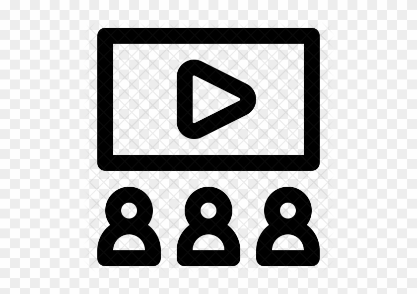 Movie Theater Icon Png - Watching Movie Icon Png #1471366