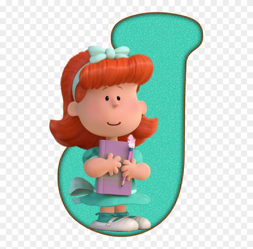 *✿**✿*j*✿**✿*de Alfabeto Decorativo - Peanuts Movie The Little Red Haired Girl #1471439