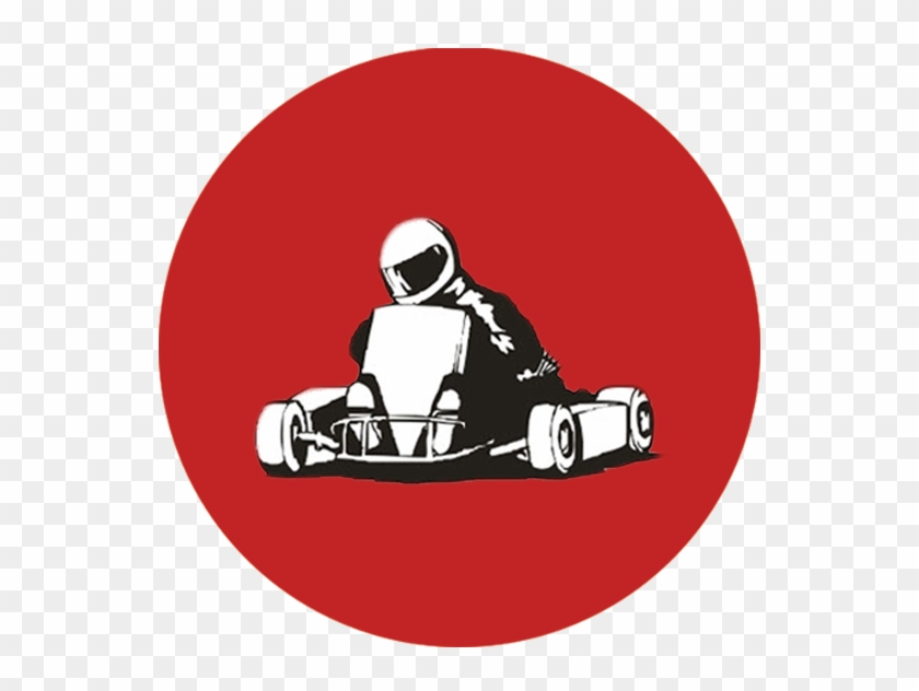 Go Kart Team - Go Kart Cartoon Black And White #1472029