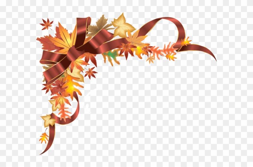 Coins,corners,bordures - Happy Thanksgiving Border Clipart #1473963