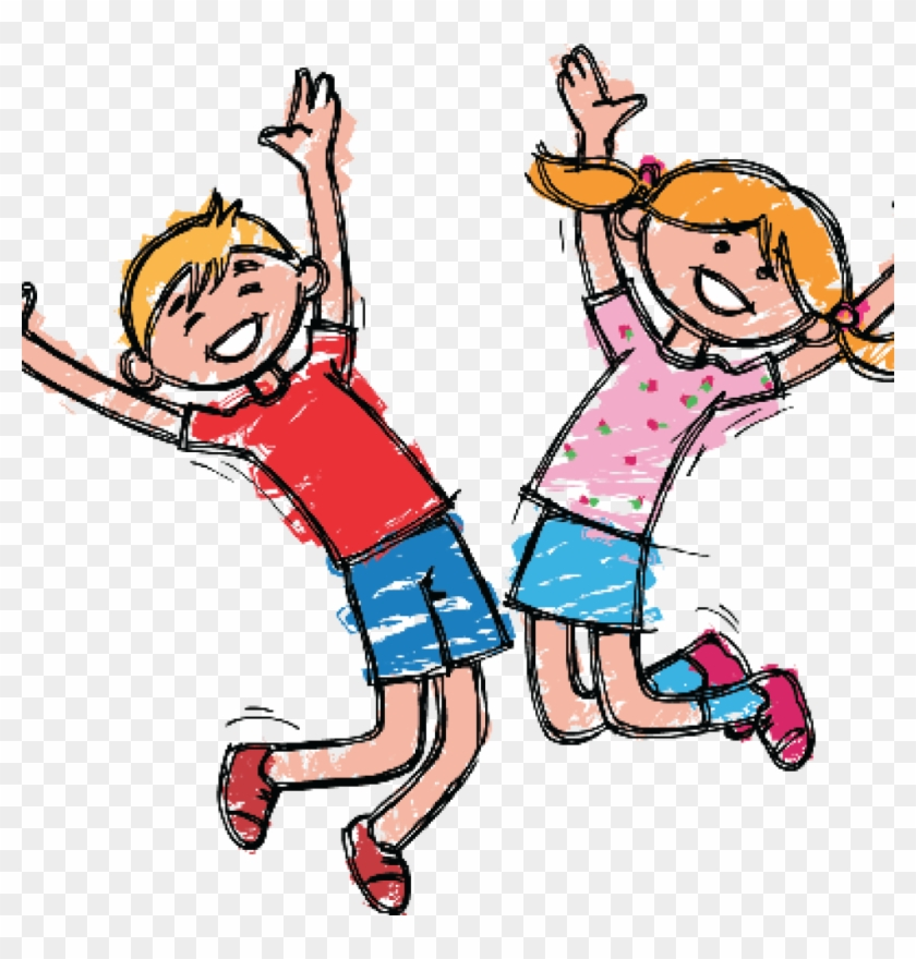 Happy Clipart Happy Clipart At Getdrawings Free For - Happy Kids Boy And Girl #1474215