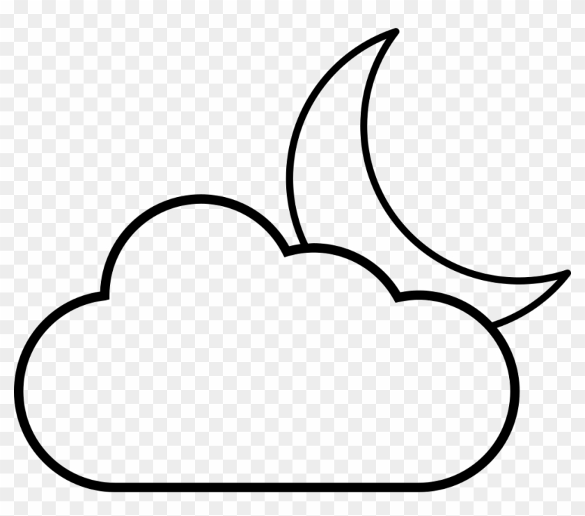 Crescent Moon Behind A Cloud Svg Png Icon Free Download