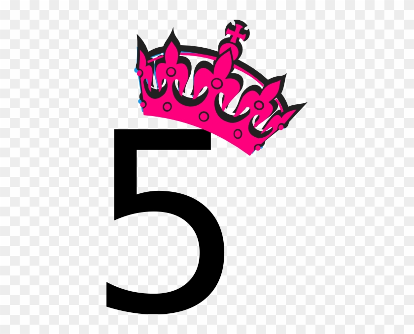 Pink Tilted Tiara And Number 5 Clip Art At Clker - Number 2 In Pink #231349