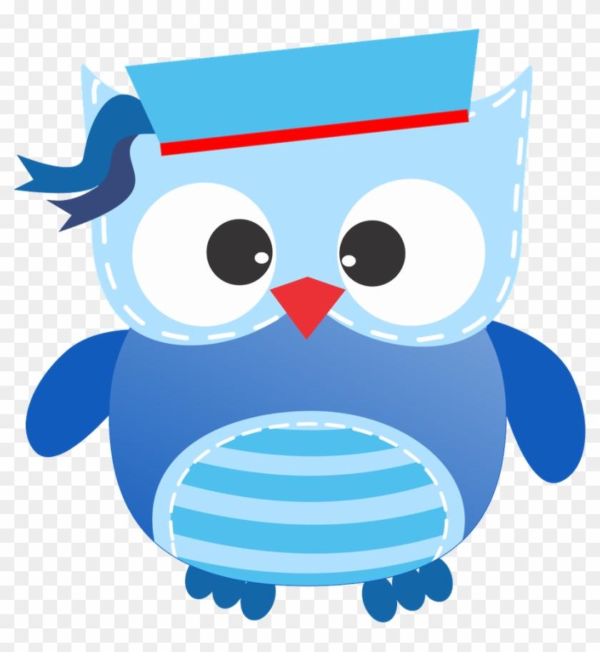 Corujas 3 - Minus - Cute Clipart Sailor Owl #231404
