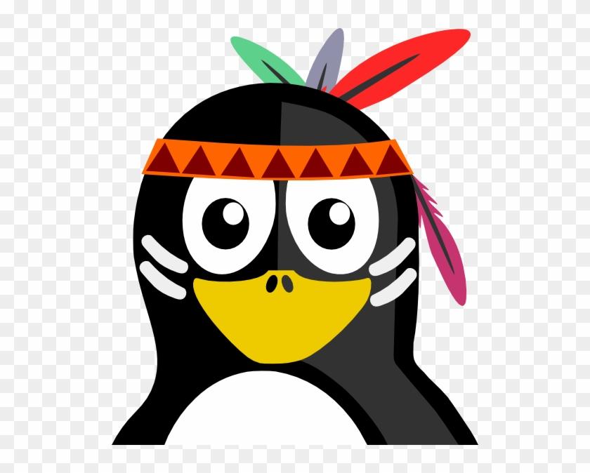 Native American Penguin Shower Curtain #231581