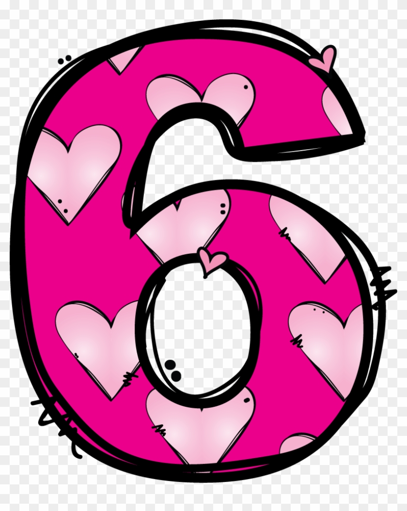 numeros* ** * - Number 6 Clipart - Free Transparent PNG ...