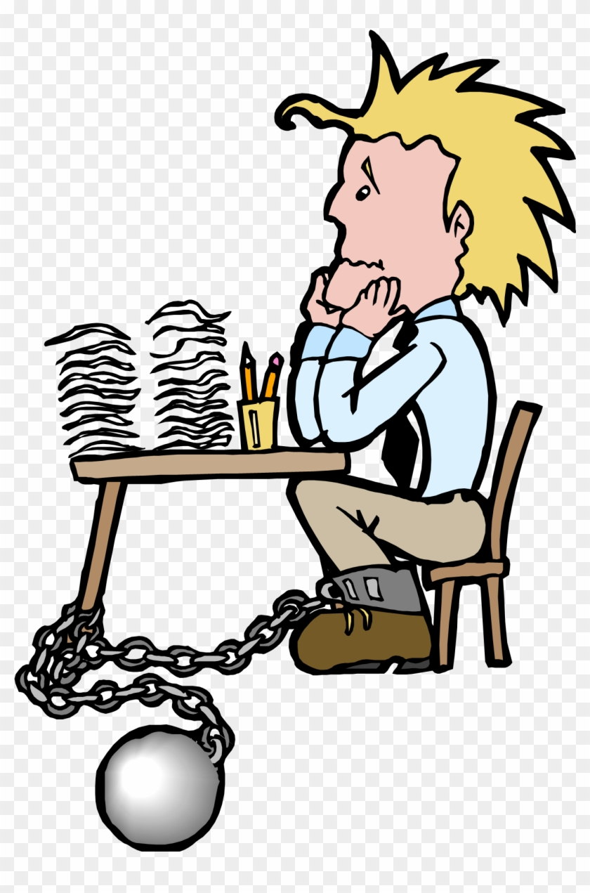 Chained To Desk Cartoon #231645