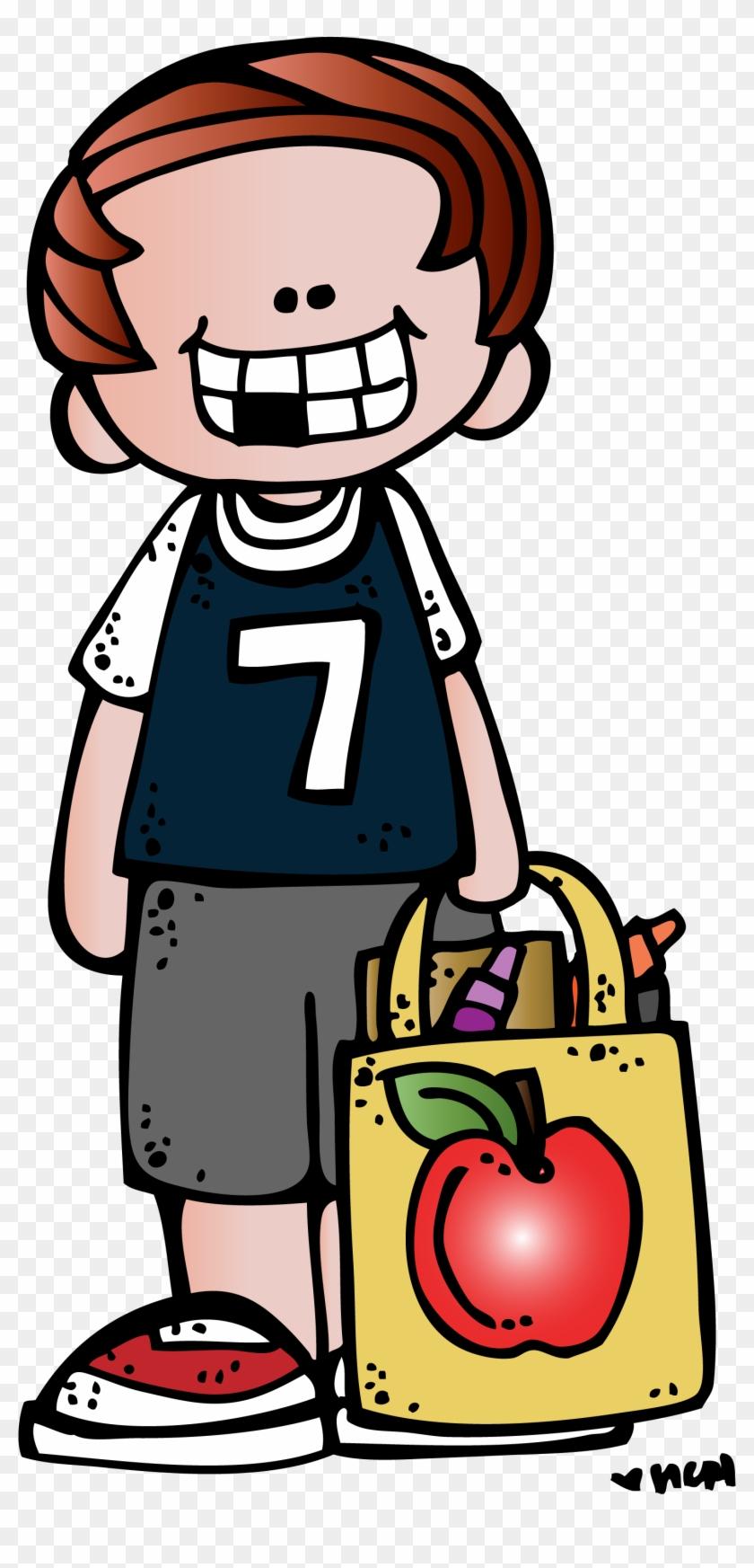 Melonheadz School Supplies Clipart - Melonheadz Boy Clipart #231806