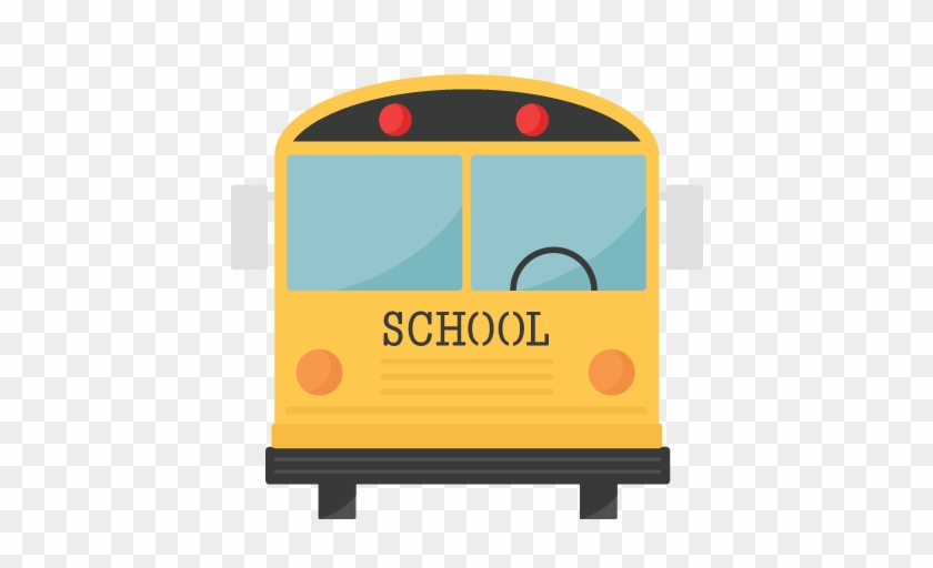 School Bus Svg Scrapbook Title School Svg Cut Files - School Bus Back Clipart #232061