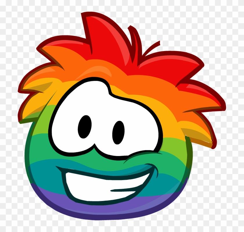 List Of Emoticons - Club Penguin Rainbow Puffle #232085