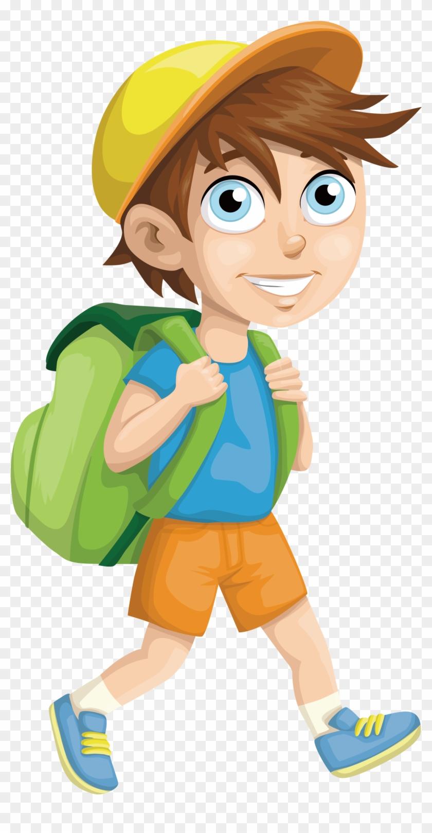 Student School Clip Art - School Boy Vector Png #232129