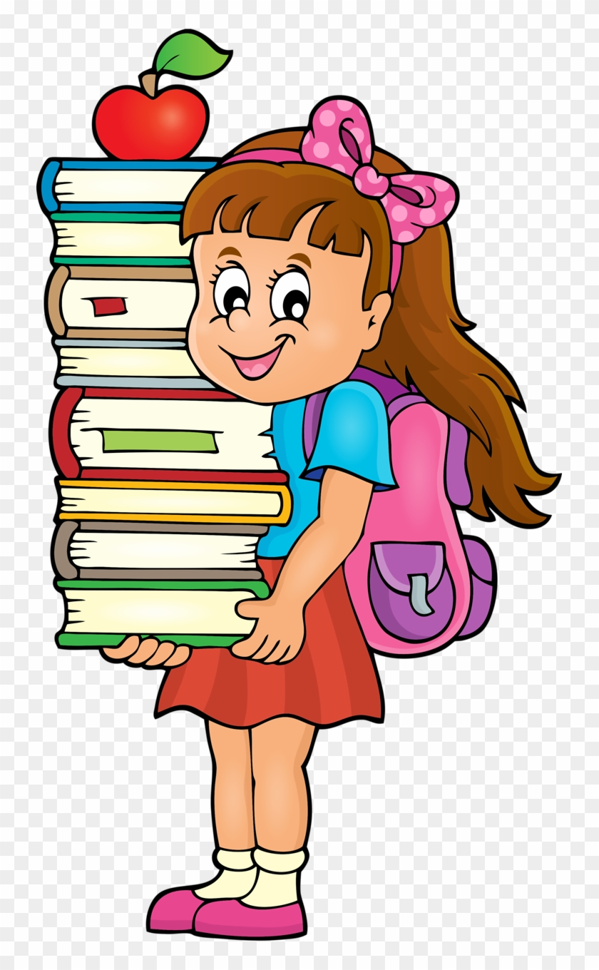 Weekly School Timetable Theme 4 [преобразованный] - Girl Carrying A Book Clipart #232404