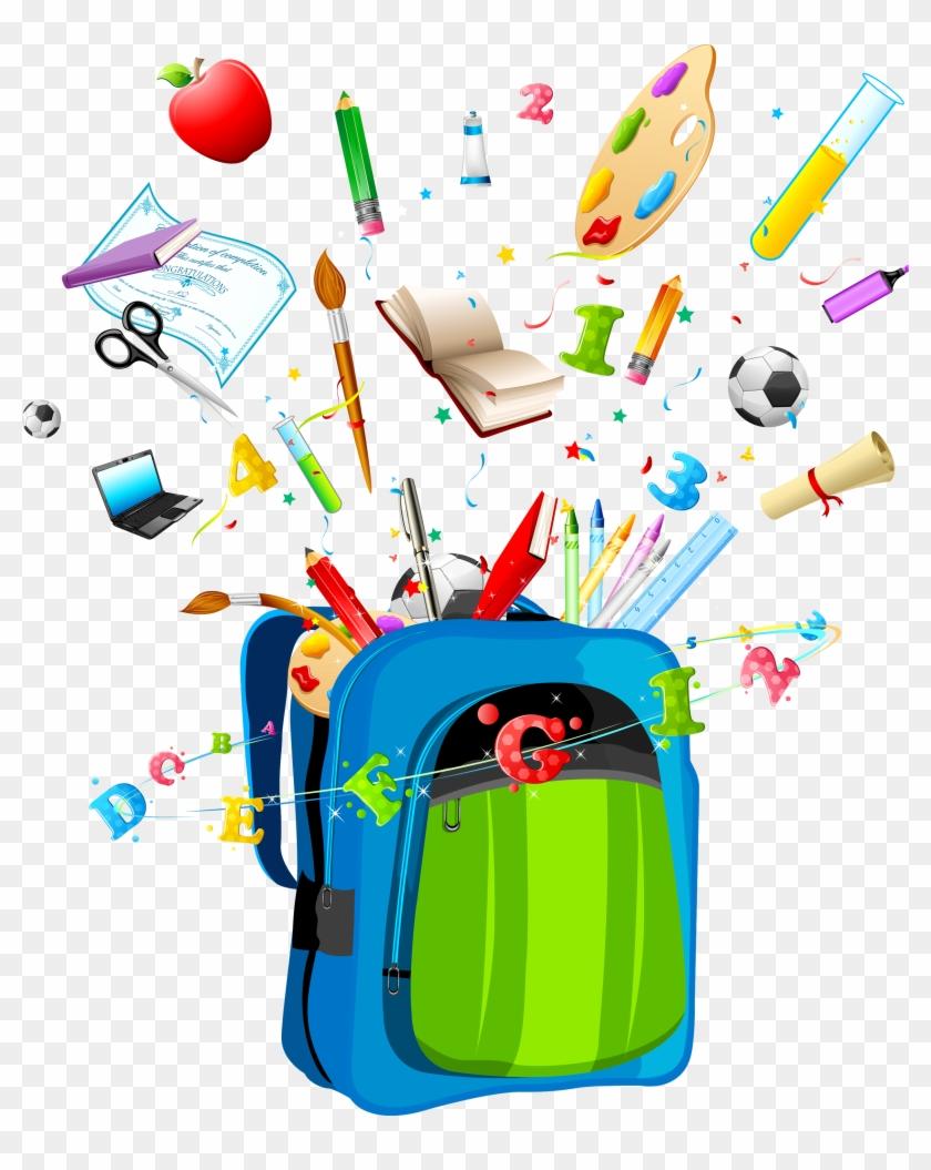 School Timetable Backpack Bag Clip Art - School Timetable Backpack Bag Clip Art #232537