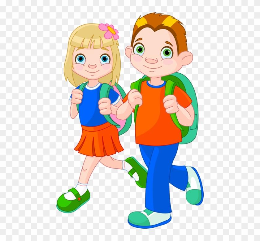 Imágenes De Niños Y Niñas En La Escuela - Boy And Girl Going To School Clipart #232438