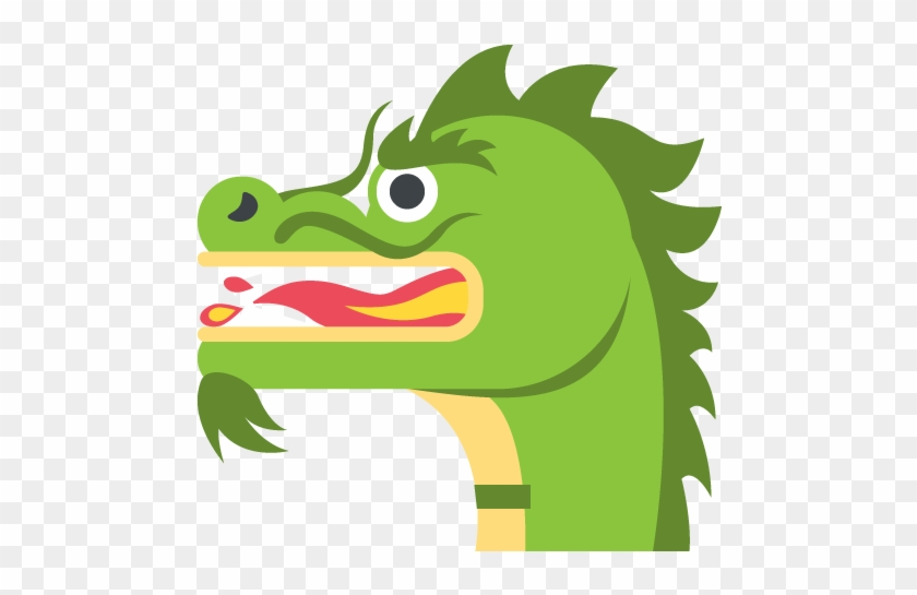 Dragon Face Emoji Vector Icon - Emoji De Un Dragon - Free