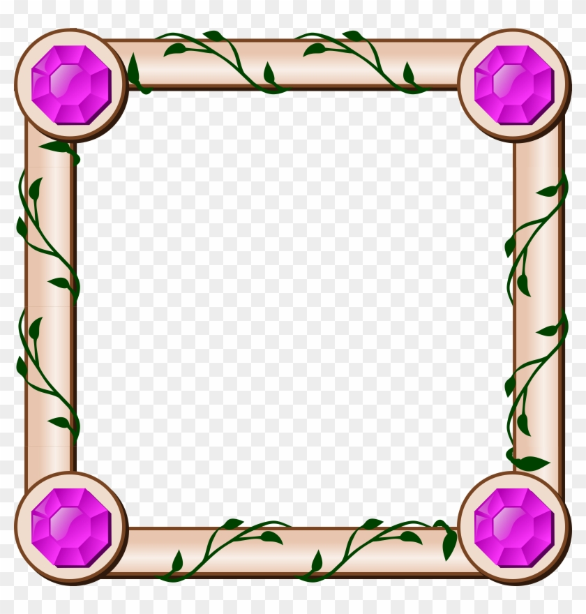 Map Ivy Border - Square Frame Clipart Png #233062