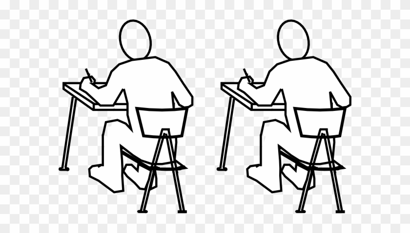 Students Clip Art - Drawing Of A Man Studying #233112