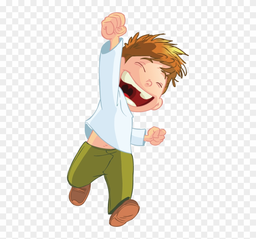 Cartoon Boy Jumping - Cartoon Boy Logo Png #233265