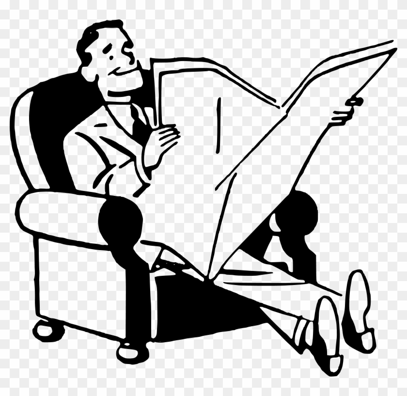 Free Man Reading Newspaper - Man Reading Newspaper Clipart #233268
