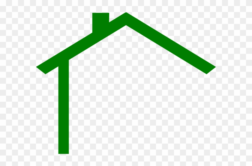 Darker Green House At Vector Online - House Roof Clip Art #233405