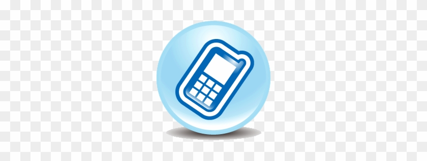 Blue Mobile Phone Clipart Icon - Mobile Phone Icon Png Blue
