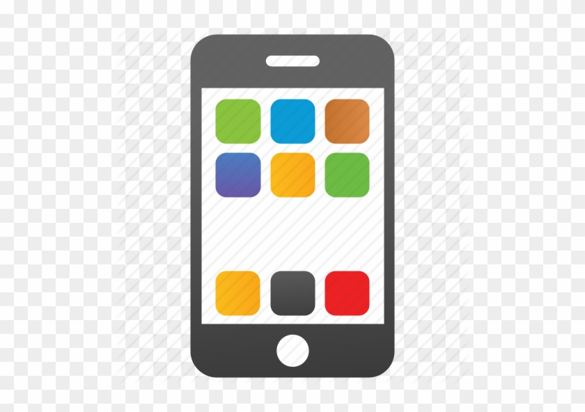 Mobile Phone Cell Icon - Cell Phone Icon Color #233545