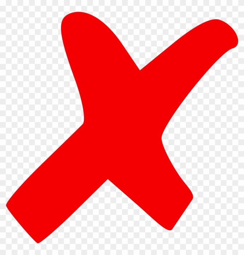 Red Cross Clipart Not - X Mark #233751