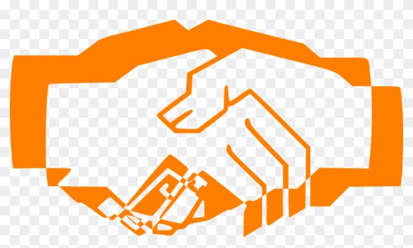 Independent Consultant Contract - Handshake Clipart Orange #233896