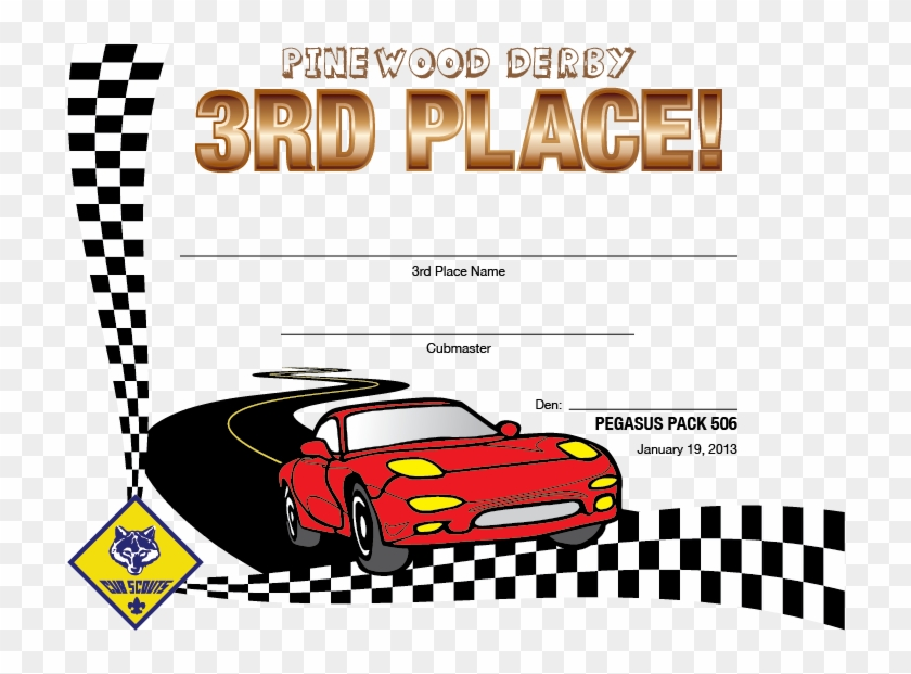 picture relating to Pinewood Derby Awards Printable named Pinewood Derby Award Certification Template Basically B Result in